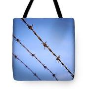 Barbed Wire Close Tote Bag