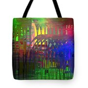 Barbed Wire Cubed 3 Tote Bag
