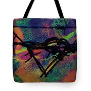 Barbed Wire Love-punch Drunk Tote Bag