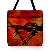 Barbed Wire Love Series  Rage Tote Bag