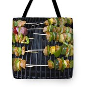 Barbeque Kabobs On Grill Tote Bag