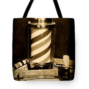 Barber - Barber Pole - Black And White Tote Bag