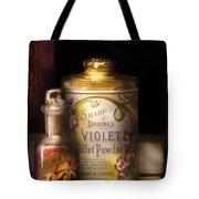 Barber -  Sharp And Dohmes Violet Toilet Powder  Tote Bag