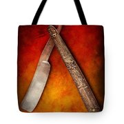Barber - Shaving - Keep A Stiff Upper Lip Tote Bag by Mike Savad