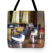 Barber - Small Town Barber Shop Tote Bag