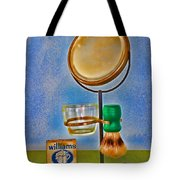 Barber - The Shaving Mirror Tote Bag
