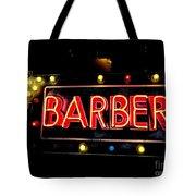Barber This Way Tote Bag