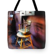Barber - Vintage Child's Barber Chair Tote Bag
