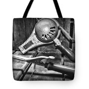 Barber - Vintage Hair Care In Black And White Tote Bag