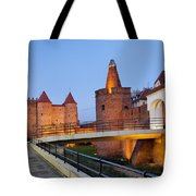 Barbican In The Old Town Of Warsaw Tote Bag