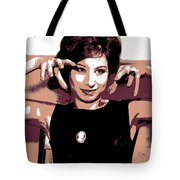 Barbra Streisand - Brown Pop Art Tote Bag