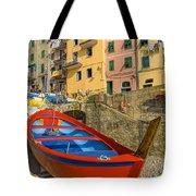 Barca Rossa A Rio Maggiore Tote Bag
