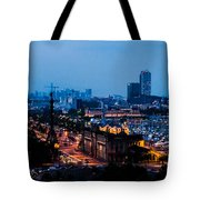 Barcelona At Night  Tote Bag