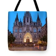 Barcelona Cathedral In The Evening Tote Bag