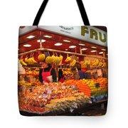 Barcelona Food Court Tote Bag