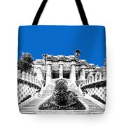 Barcelona Skyline Park Guell - Blue Tote Bag