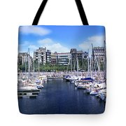 Barcelona Spain Port Vell Marina 3 Tote Bag