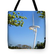Barcelona Tv Tower/sun Dial Tote Bag