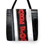 Bare Foot Tote Bag by Karol Livote