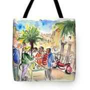 Bargaining Tourists In Siracusa Tote Bag