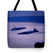 Barges On The Mississippi Tote Bag