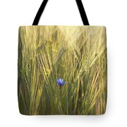 Barley And Corn Flowers In The Field Tote Bag