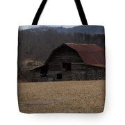 Barn Across The Field Tote Bag