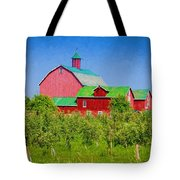 Barn And Apple Orchard Tote Bag