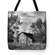 Barn And Clouds Tote Bag