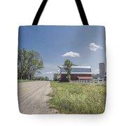 Barn And Dirt Road Tote Bag