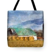 Barn And Silo In West Virginia Tote Bag