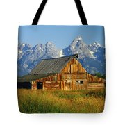 1m9394-barn And The Tetons Tote Bag
