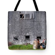 Barn And Tractor Pei Tote Bag
