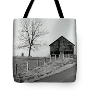 Barn And Tree Tote Bag