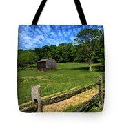 Barn At Hartwood Acres Under Beautiful Sky Tote Bag