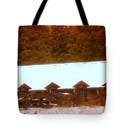 Barn Built By The Ccc At The Tieton Work Center Tote Bag