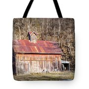 Barn By The Bluffs Tote Bag