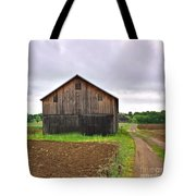 Barn By The Road Square Tote Bag