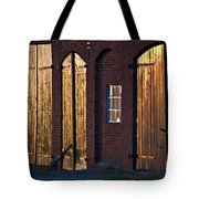 Barn Door Lighting Tote Bag