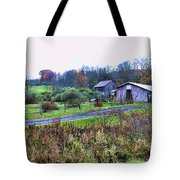 Barn - End Of The Road Tote Bag