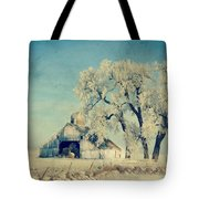 Winter Time Blues Tote Bag