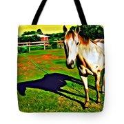 Barn Horse Tote Bag