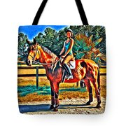 Barn Horse Two Tote Bag