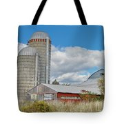 Barn In The Clouds Tote Bag