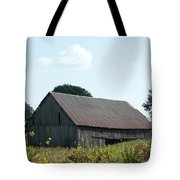 Barn In The Grass Tote Bag