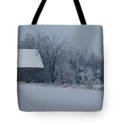 Barn In The Long Wait Tote Bag