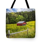 Barn In The Meadow Tote Bag