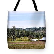 Barn In The Trees Tote Bag