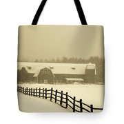 Barn Lake Placid N Y Tote Bag