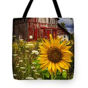 Barn Meadow Flowers Tote Bag